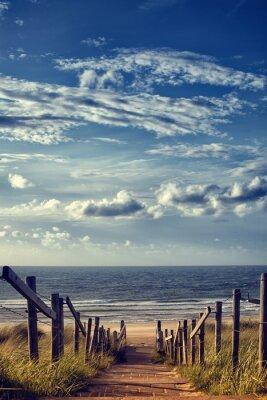 Vinilo Camino a la playa por el mar