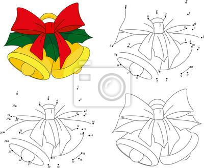 Campanas de navidad. libro para colorear y juego punto a punto ...