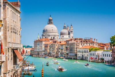 Vinilo Canal Grande con la Basílica de Santa María della Salute, Venecia, Italia