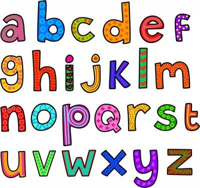 Vinilo Caprichosa minúsculas del alfabeto