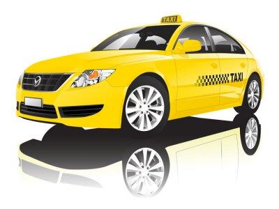 Vinilo Car Cab Taxi Public Shiny Performance Concept