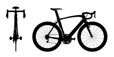 Vinilo Carreras de carretera silueta bicicleta 2en1 A
