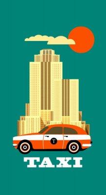 Vinilo Cartel del taxi de la ciudad