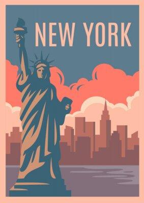 Vinilo Cartel retro de Nueva York.