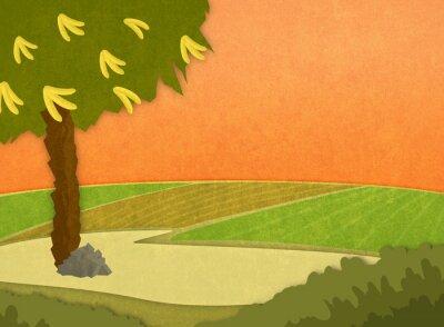 Vinilo Cartoon ilustración de fondo elegante de la trama.