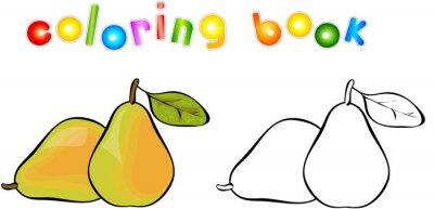 Vinilo Cartoon pear coloring book