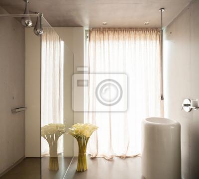 Casa moderna, de diseño minimalista cuarto de baño vinilos ...