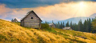 Vinilo Casas de madera de Ucrania