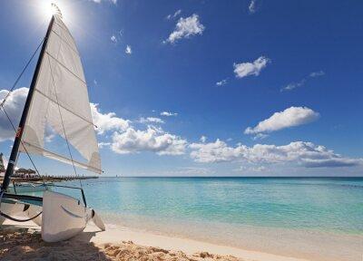 Vinilo Catamarán en la playa