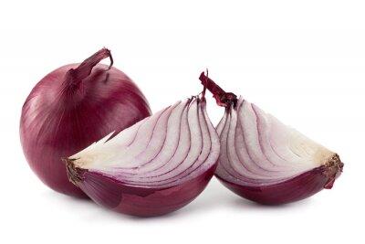 Vinilo Cebolla morada en blanco