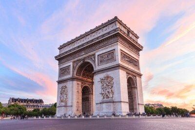 Vinilo Champs-Elysees at sunset in Paris