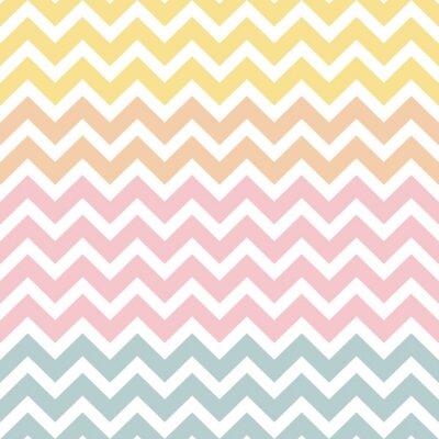 Vinilo Chevron Pattern Pastell