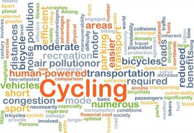 Vinilo Ciclismo concepto de fondo
