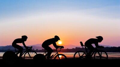 Vinilo Ciclismo en el tiempo crepuscular