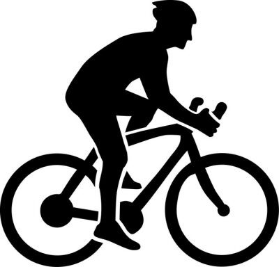 Vinilo Ciclismo Silueta