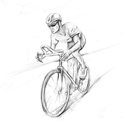 Vinilo ciclista de carreras
