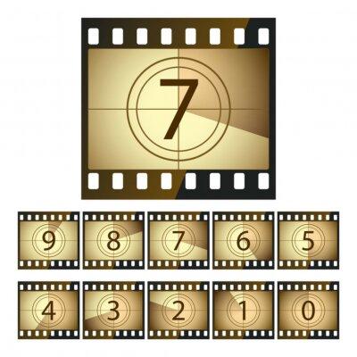 Cine de cuenta regresiva vector vinilos para port tiles - Vinilos de cine ...