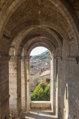 Vinilo Cityscape of Gubbio near Perugia (Italy)