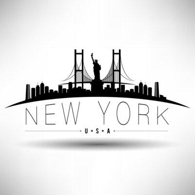 Vinilo Ciudad de Nueva York Diseño de la tipografía