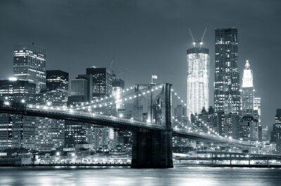 Vinilo Ciudad de Nueva York Puente de Brooklyn