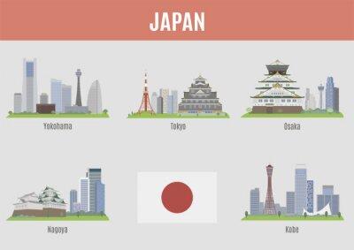 Vinilo Ciudades de Japón