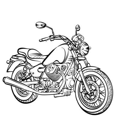 Vinilo Clásico de la motocicleta