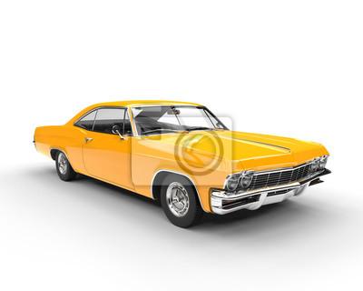 Vinilo Clásico músculo amarillo coche - disparo de iluminación de estudio