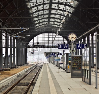 Vinilo classicistical railway station in Wiesbaden, Germany