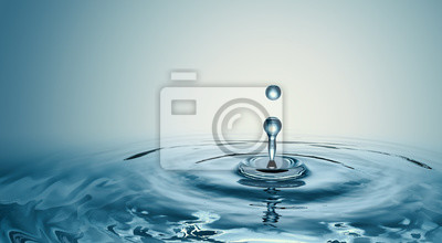 Vinilo Clear Water drop with circular waves