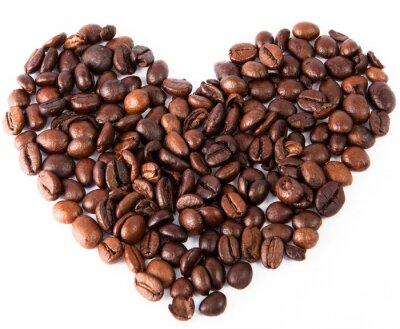 Vinilo Close-up corazón de café frito marrón natural ha sido