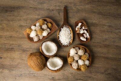 Vinilo Cocadas peruanas, un tradicional postre de coco que se vende generalmente en