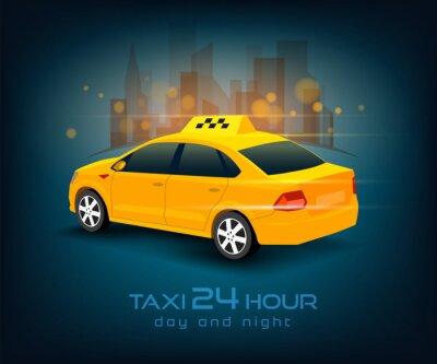 Vinilo coche del taxi
