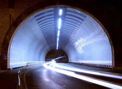 Vinilo Coche luces en un túnel, ciudad por la noche.