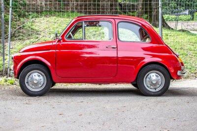 Vinilo coche pequeño / pequeño coche rojo