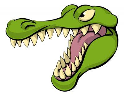 Vinilo Cocodrilo o cocodrilo de dibujos animados carácter