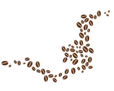 Vinilo coffee bean icon vector