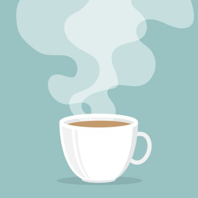 Vinilo Coffee cup with smoke float up