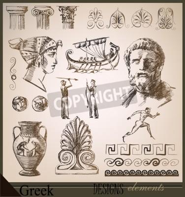 Vinilo colección de elementos de diseño de la antigua Roma
