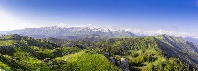 Vinilo Colinas verdes y montañas