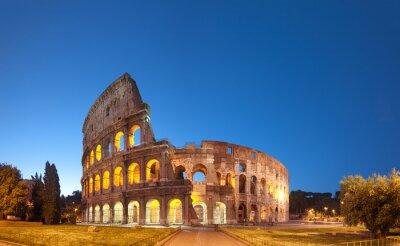 Vinilo Coliseo en la noche .Rome - Italia
