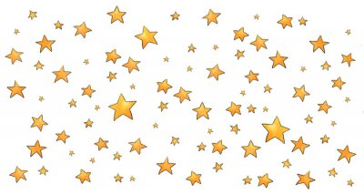 Vinilo Collection of stars style sketch cartoon watercolor.