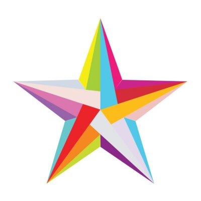 Vinilo colorido estrella
