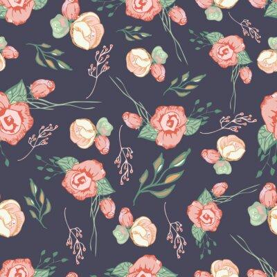 Vinilo Coloridos elementos de patrón floral transparente 4