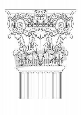 Vinilo columna clasic