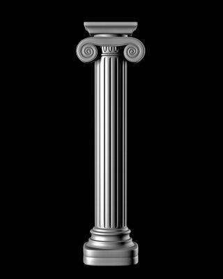 Vinilo Columna clásico en Fondo Negro