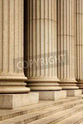 Vinilo Columnas del edificio de la Corte Suprema - la ciudad de Nueva York, EE.UU.
