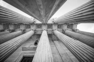 Vinilo Columnas en la Corte Suprema de los EE.UU.