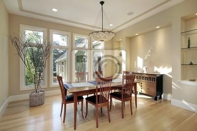 Comedor con ventanas estrechas vinilos para portátiles • vinilos ...