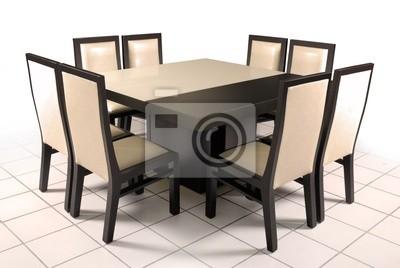 Comedor mesa de cristal y madera vinilos para portátiles • vinilos ...