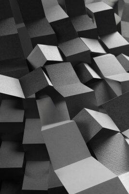 Vinilo Composición abstracta de rayas de papel, fondo geométrico